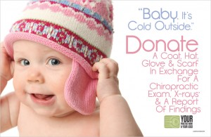 Chiropractic marketing clothing drive postcard campiagn