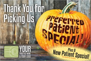 Chiropractic postcard for harvest  and halloween