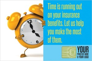 Chiropractic insurance reminder postcard