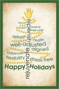 Chriopractic Christmas Holiday card Postcard