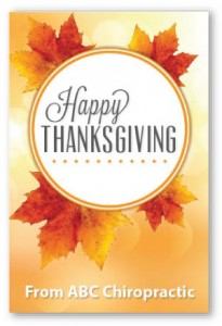 Classic thanksgiving postcards chiropractic patients thanks referral booster