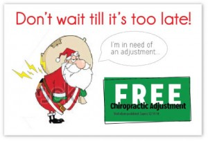 Insurance chiropractic winter reminder postcards campaigns cheap patients