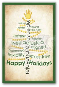 Justus chiropractic marketing holiday postcards christmas postcards new patient greeting card thank you advertising 3