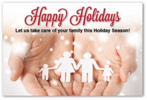 Justus chiropractic marketing holiday postcards christmas postcards new patient greeting card thank you advertising
