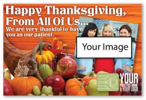 chiropractic thanksgiving card marketing cheap postcards