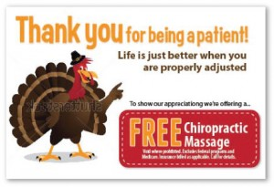 deal chiropractic thank you thanksgiving postcard patients