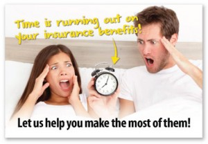 dont wait for coverage to end chiropractic benefits insurance reminders patients postcards