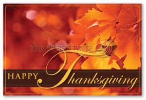 fall autumn thanksgiving chiropractic marketing postcard