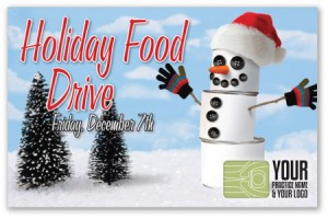justus chiropractic marketing food drive campaigns clothing toy advertising patients holiday winter design