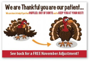 thanksgiving chiropractic patient referral program campaigns