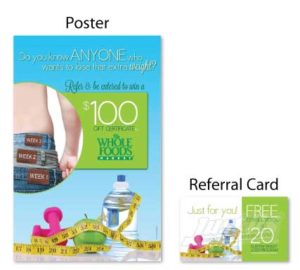 Weight loss referral booster chiropractic postcards campaign boost referrals marketing personal injury advertising free consultation