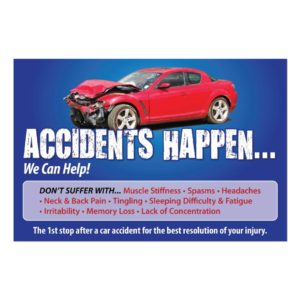 chiropractic marketing, chiropractic posters, auto accident poster, pi poster