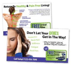 Chiropractic Marketing, Chiropractic Postcards, Reactivation Postcards, Chiropractic Cards, Personal Injury Postcards