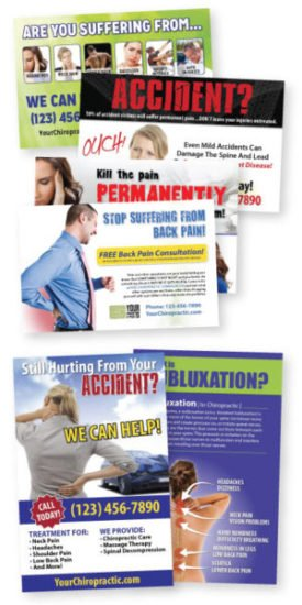 new patient marketing, new patient postcards, pi postcards, auto accident postcards, pi posters