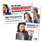chiropractic marketing pain postcard chiropractic postcards rx medication print materials chiropractic advertising