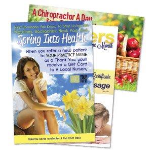 chiropractic posters, chiropractic print materials