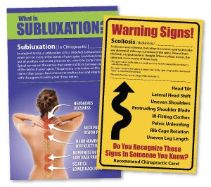 chiropractic marketing, special offers, chiropractic postcards, chiropractic posters